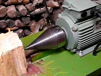Как сделать механизированный колун для рубки дров