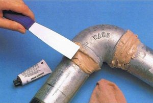 Использование холодной сварки при ремонте