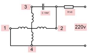 Подключаем электродвигатель к сети 220