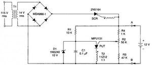 Схема зарядки на 12 В