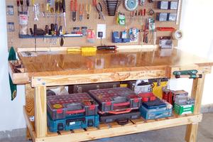 Угловой верстак для гаража своими руками 87