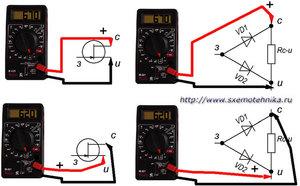 Особенности проверки транзистора