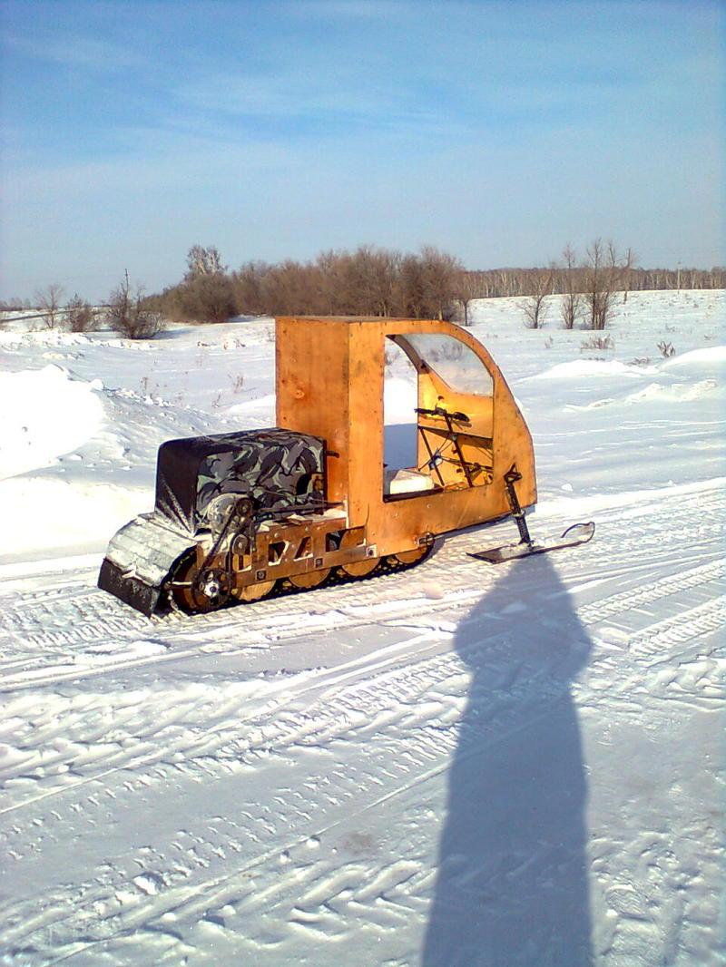 Чертежи самодельного снегохода на гусенице