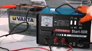 Как провести зарядку аккумулятора