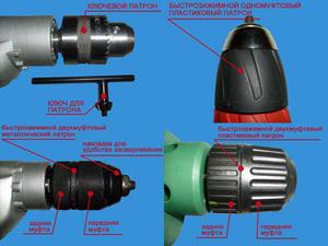 Типы патронов электродрели